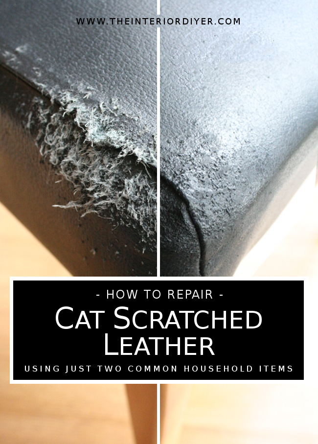 how to repair cat scratched leather the interior diyer. Black Bedroom Furniture Sets. Home Design Ideas